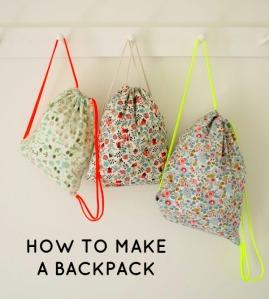 HOW TO MAKE BACKPACKS