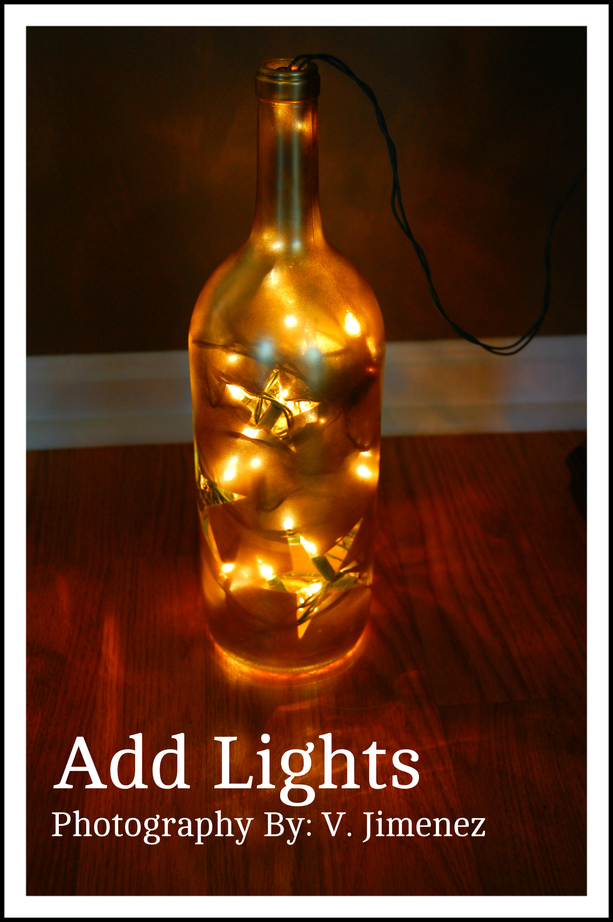 Fourth of july crafts nikitaland for Light up wine bottles