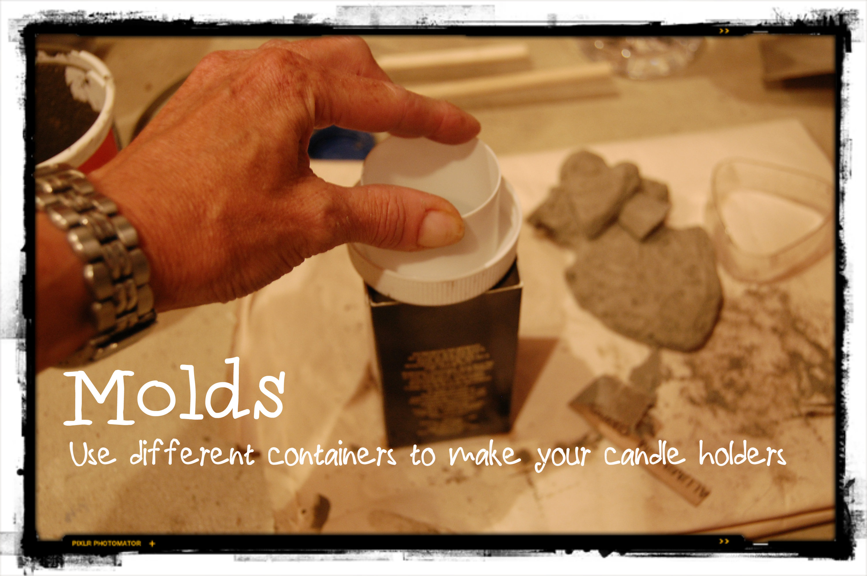 how to make cement molds