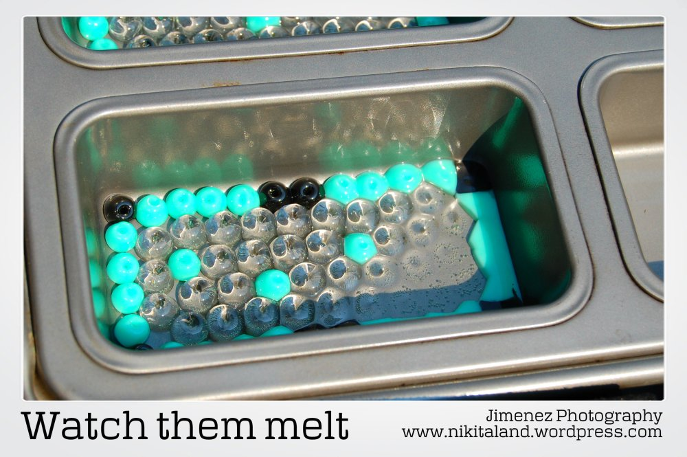 How to Make a Night Light Cover from Melting Beads (5/6)
