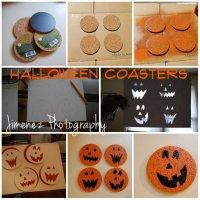 DIY Spooky Halloween Cork Coasters