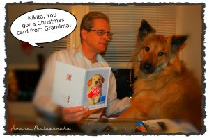 Nikita Got Christmas Card from Grandma