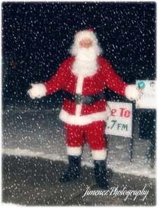 Santa on Sidewalk