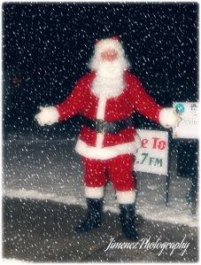 Santa on Sidewalk