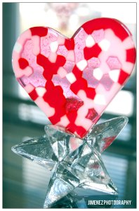 HEART FROM MELTED PONY BEADS