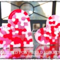 Melted Pony Bead Hearts