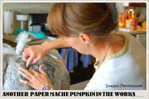 PAPER MACHE PUMPKIN NO 4