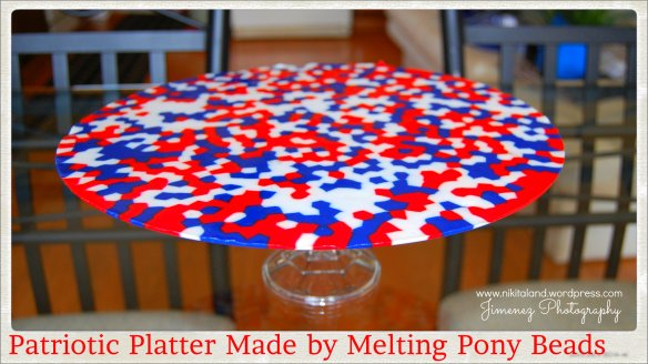 PIZZA PAN PATRIOTIC PLATTER MADE BY MELTING PONY BEADS