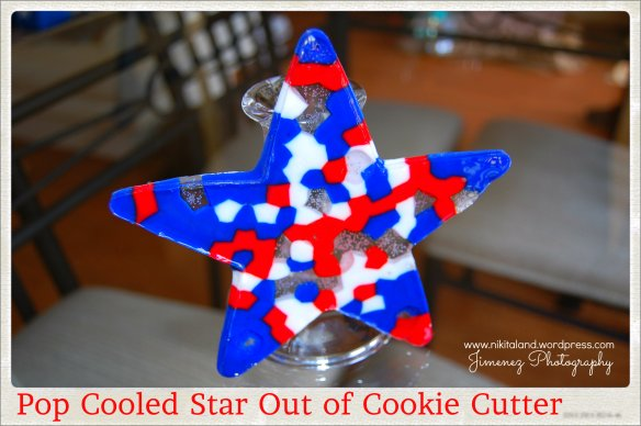 PONY BEAD STAR POPPED OUT OF COOKIE CUTTER