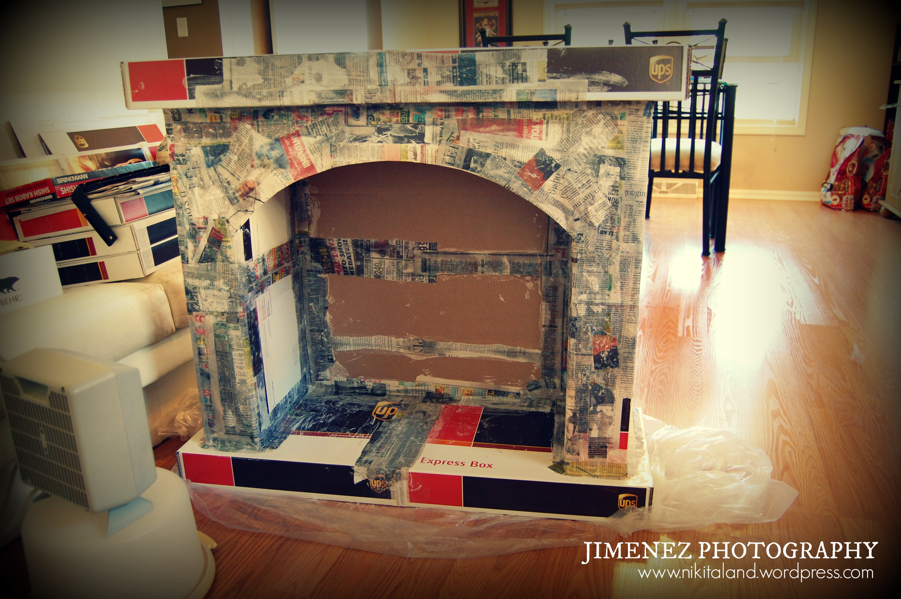 diy fireplace prop fireplace
