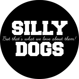SILLY DOGS BUTTON