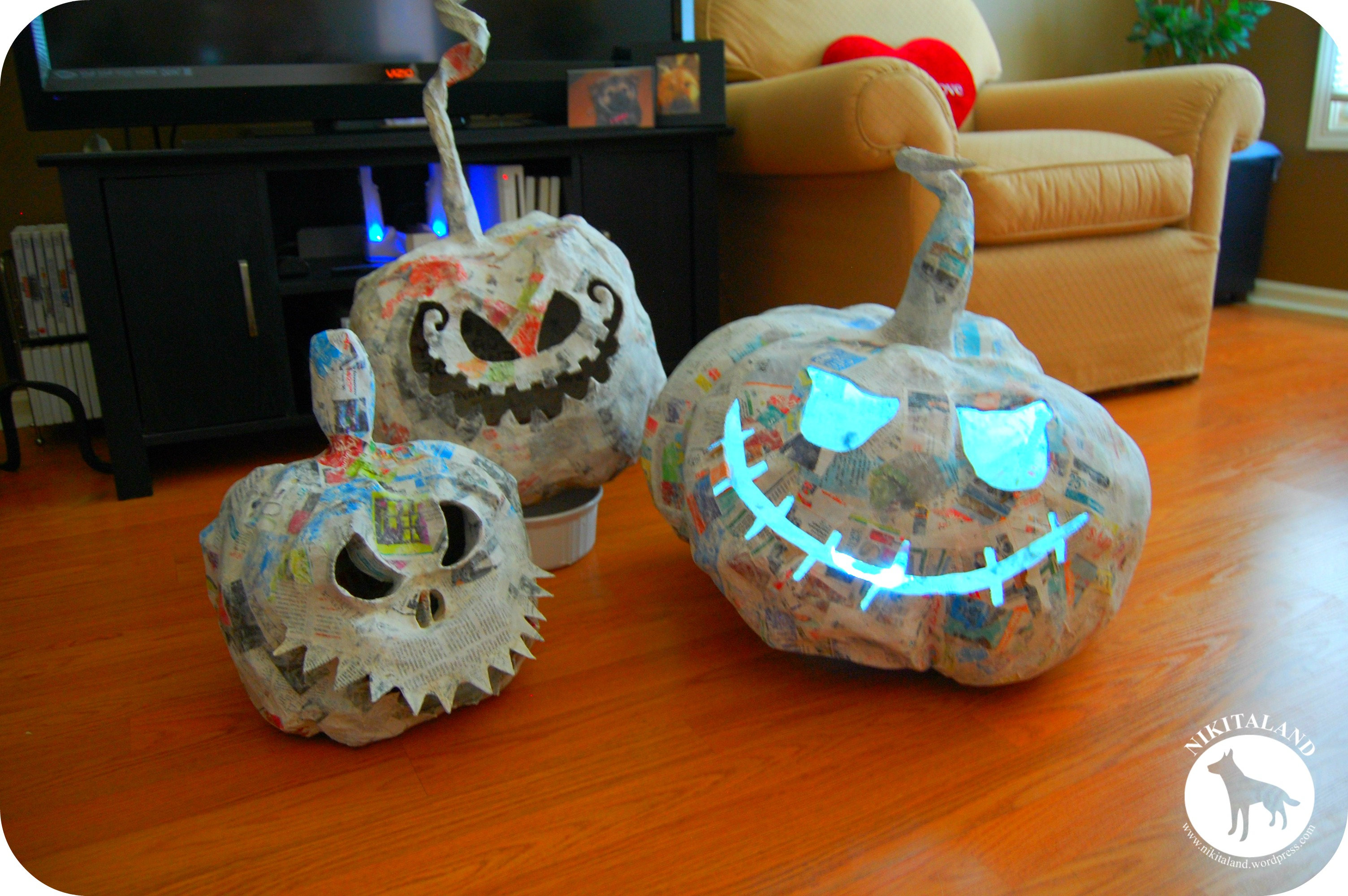 how to make paper mache pumpkins more nikitaland