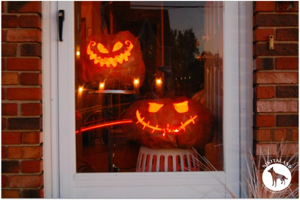 PUMPKINS IN THE DOORWAY
