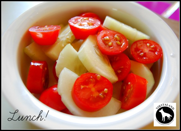 TOMATOES AND CUCUMBERS FOR LUNCH