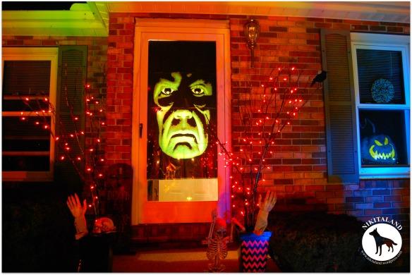 FRONT DOOR GREEN MAN WOW WINDOW POSTER