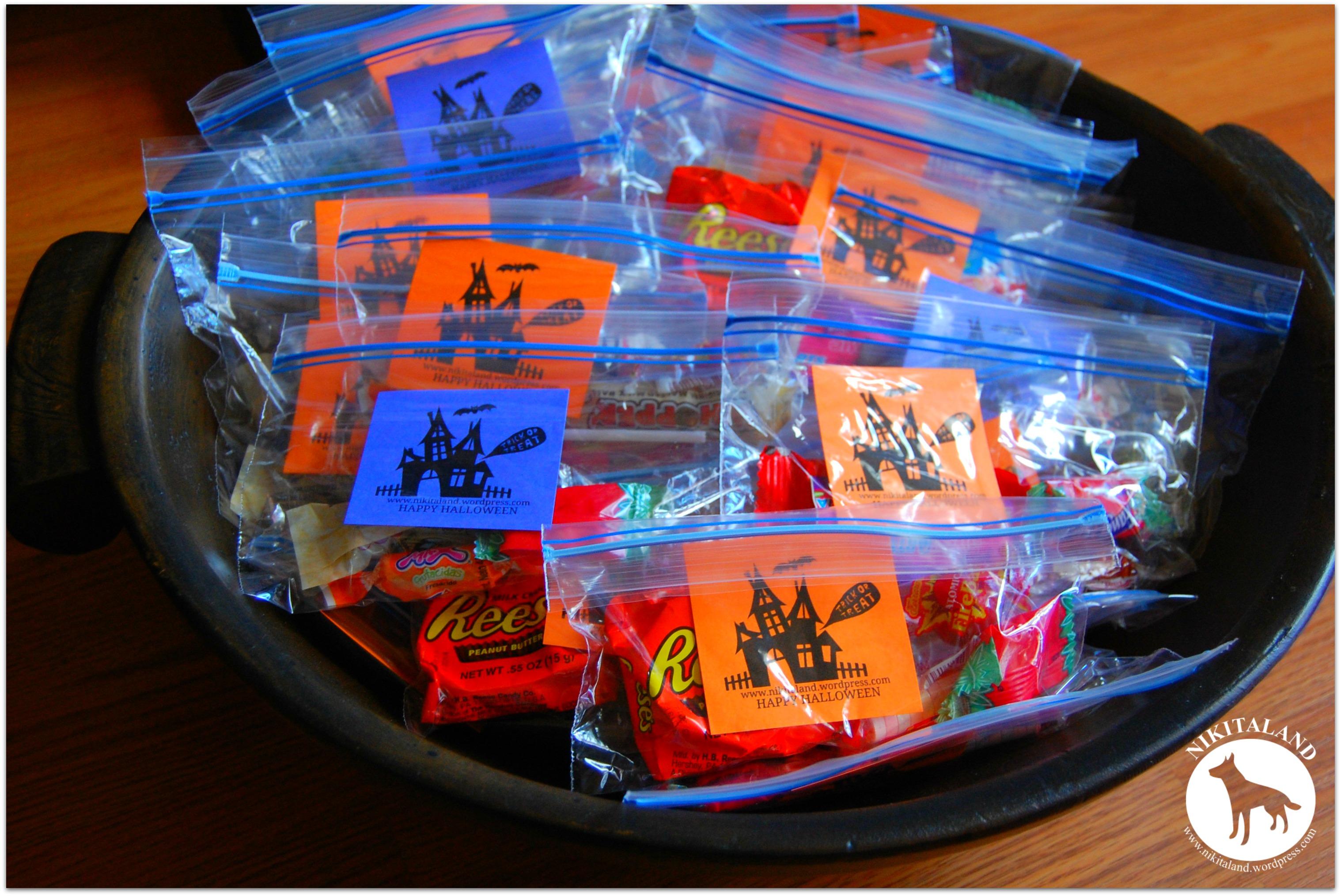 halloween candy bags - Kids Halloween Treat Bags