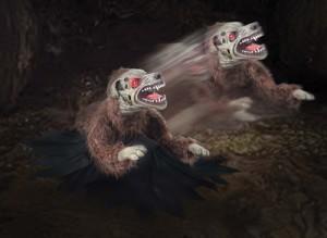 Lunging Mad Demon Dog