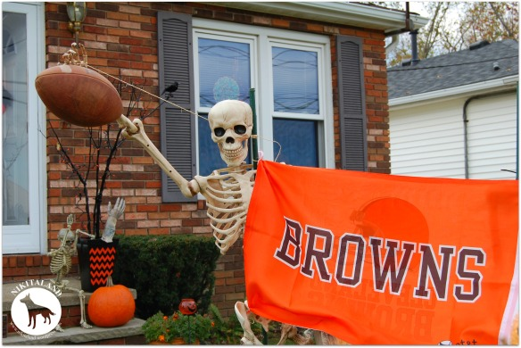 SKULLY CHEERING FOR THE BROWNS