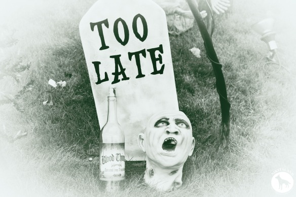 TOO LATE TOMBSTONE