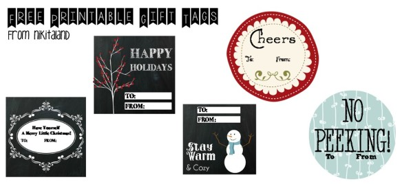 Free Printable Gift Tags from Nikitaland 2013