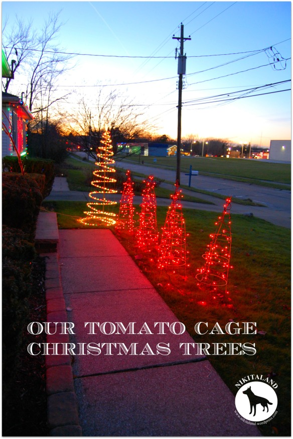 OUR TOMATO CAGE CHRISTMAS TREES