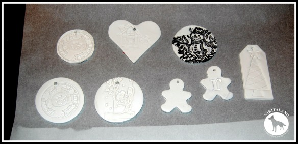SCULPEY CLAY ORNAMENTS