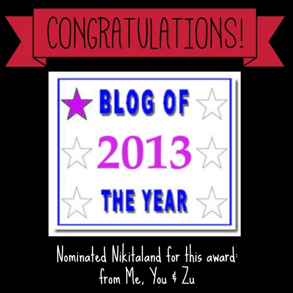 2013 BLOG OF THE YEAR AWARD