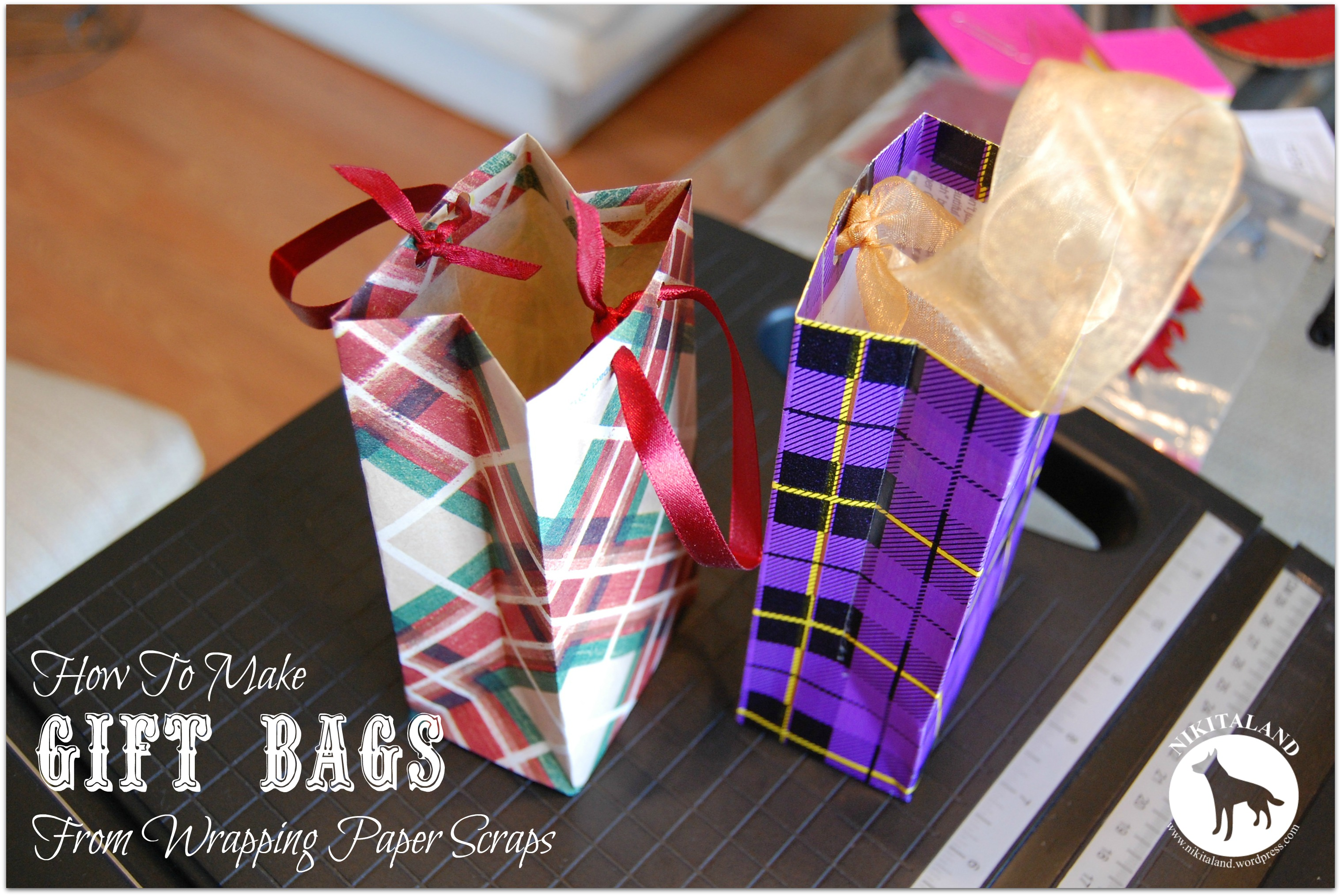 How To Make A Gift Bag From Wrapping Paper Scraps | Nikitaland