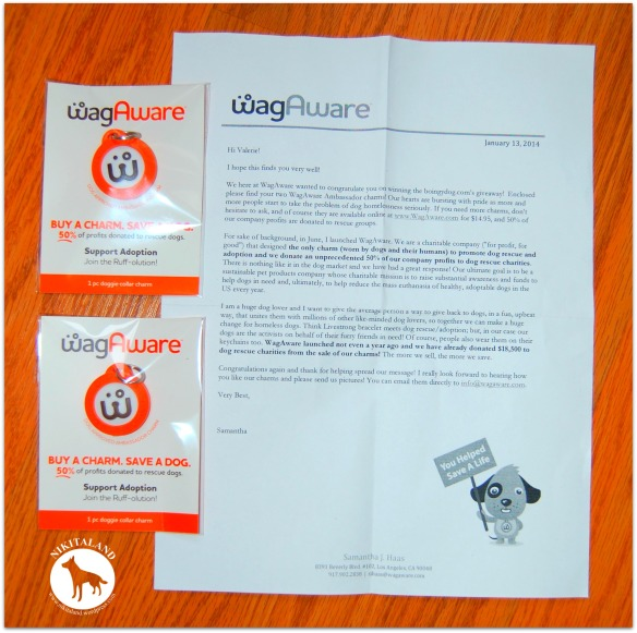 WAG AWARE LETTER