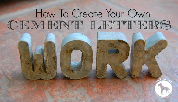 How to create your own cement letters