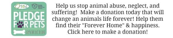 Pledge For Pets White Banner