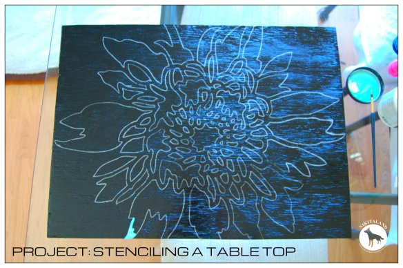 STENCILING A TABLE TOP1