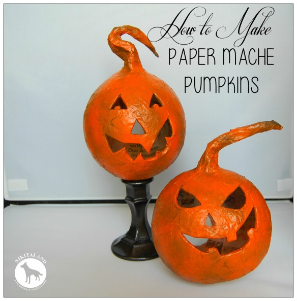 HELLO FALL! How to Make Paper Mache Pumpkins