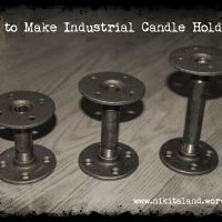 PIPE DREAM: How To Make Industrial Candle Holders