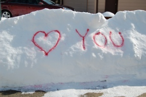 A message in the snow for my Sweetie!