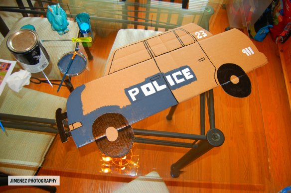 PAINTING POLICE CAR