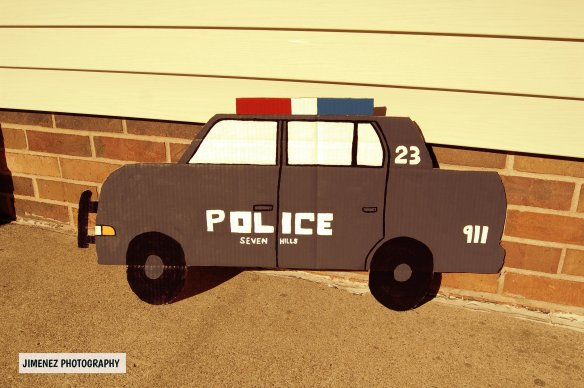 POLICE CAR OUTSIDE