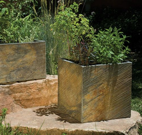 SLATE FLOWER CONTAINERS